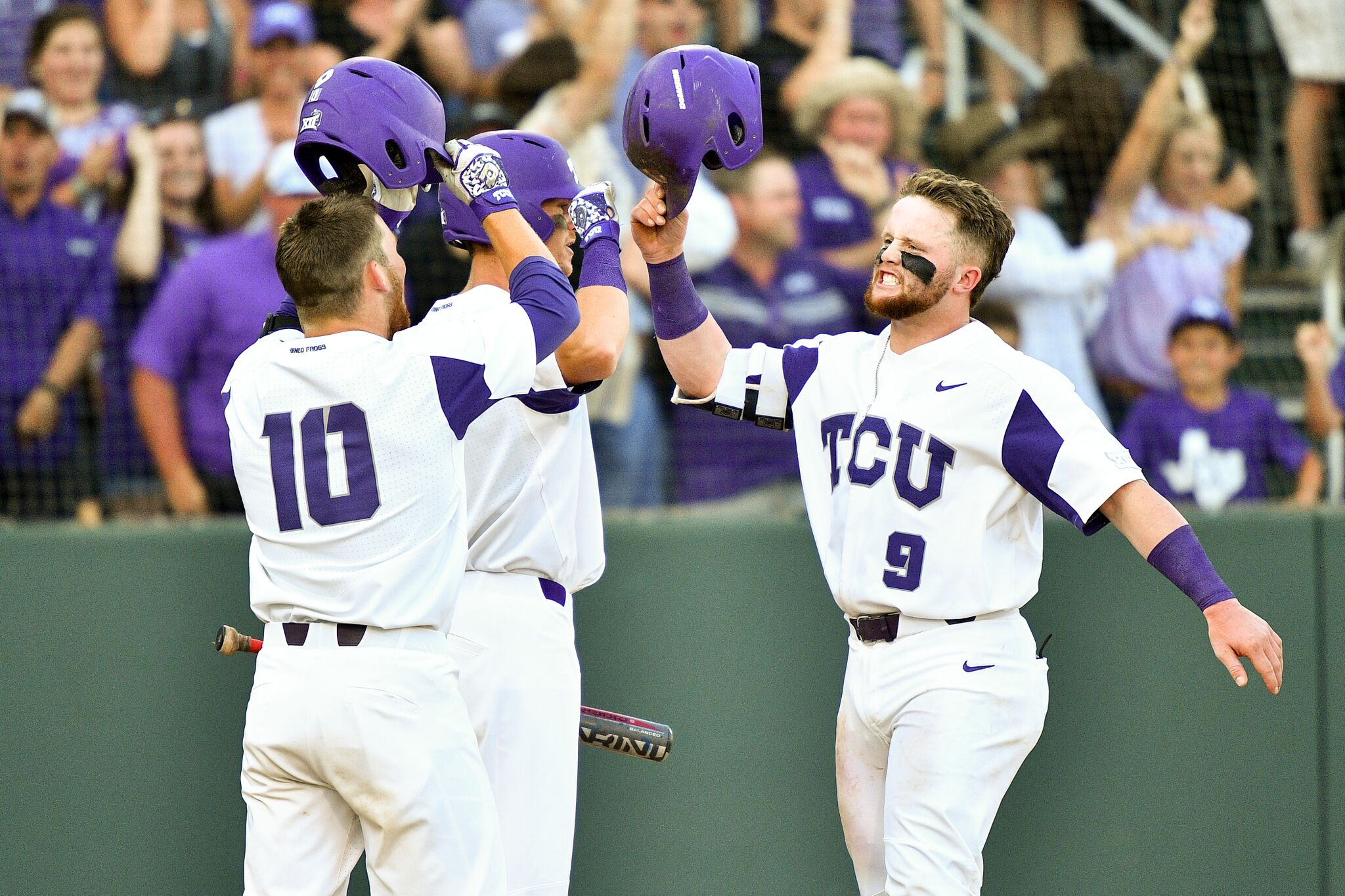 Skoug powers TCU to sweep of Missouri St, 4th straight CWS